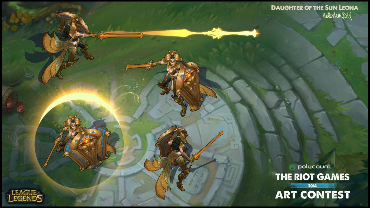 LoL skin concepts, Daughter of the Sun Leona | league of legends FAN ...
