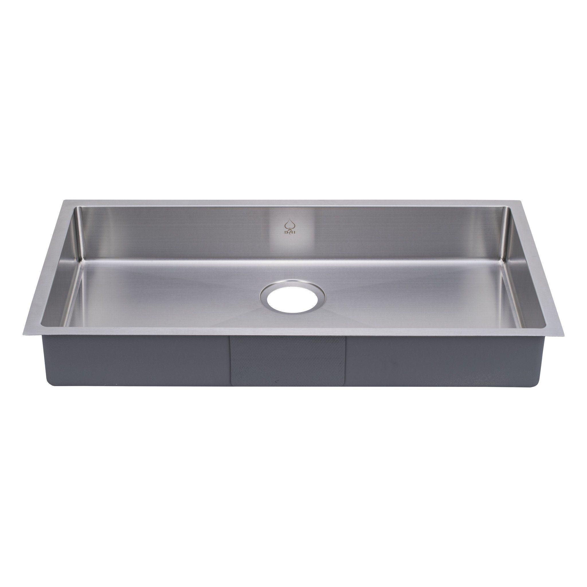Bai 1248 Stainless Steel 16 Gauge Kitchen Sink Handmade 33