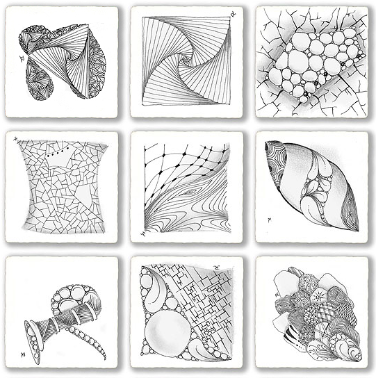 zentangle pattern drawing as meditation pattern drawing