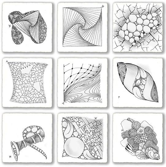 Zentangle Pattern Drawing As Meditation Zentangle Patterns