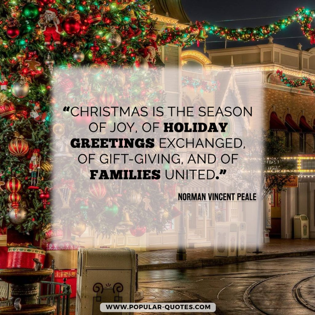 Christmas Is The Season Of Joy Of Holiday Greetings Exchanged Of