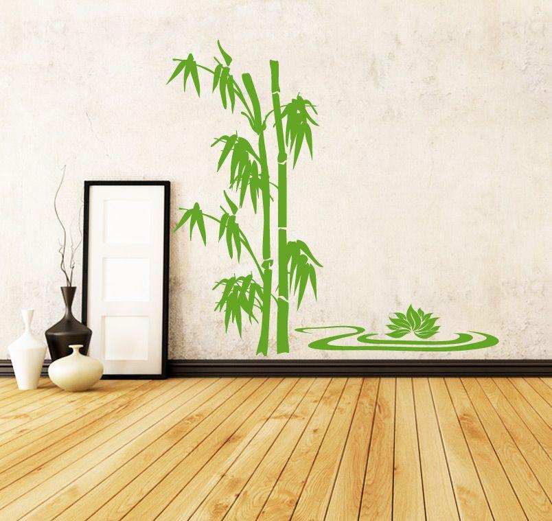 Mit dem Bambus Lotus Wandtattoo von Lichterleben kreieren Sie