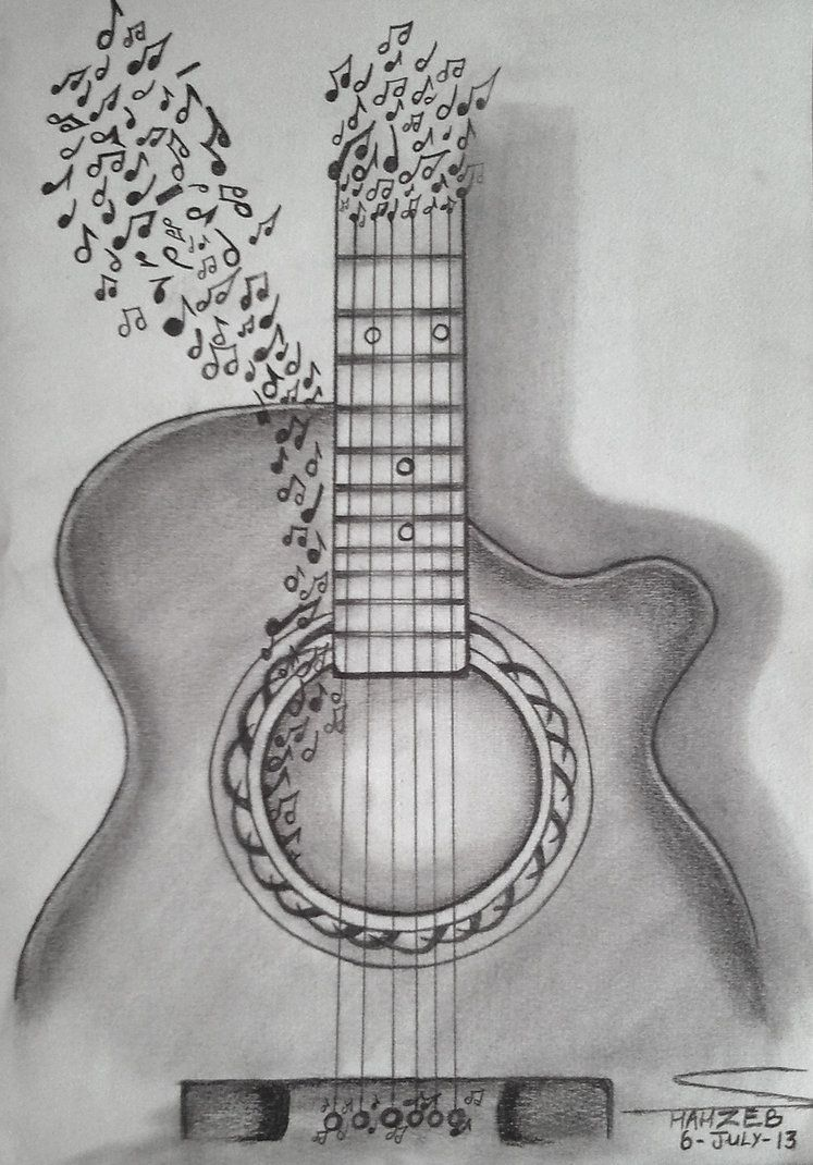 Guitar Sketch Art Inspiration Tips And Ideas In 2019 Drawings