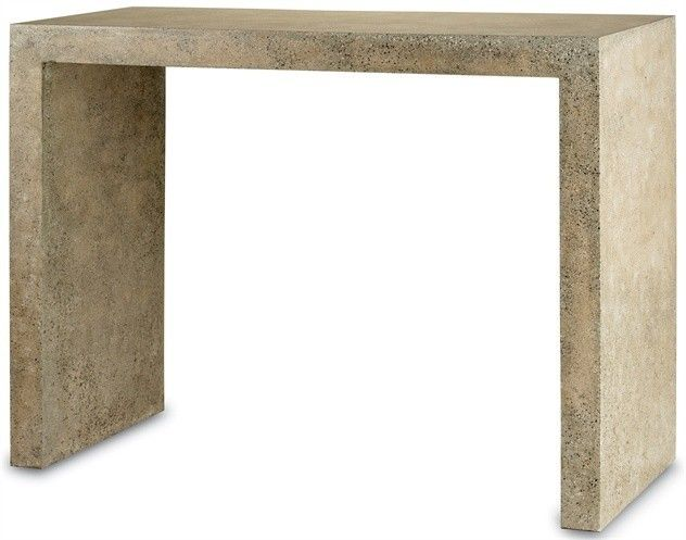 Currey and Company Rectangular Beige Harewood Console Table 2001 - Currey Rectangular Beige Harewood Console Table 2001Our Harewood Console Table is sophisticated and modern with a minimalist profile and Polished Concrete finish. Use indoors or out to add instant and effortless chic to any space.SKU: 2001Manufacturer: Currey And CompanyColor: Polished ConcreteType: Console TableShip: FCWeight: 193Dimensions: 48w x 20d x 36hMaterial: Iron/ConcretePackage Weight: 418Freight Information…