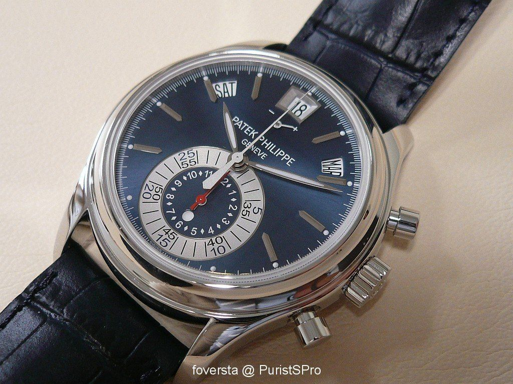 second annual calendar steel mens watches s details product hand patek philippe men stainless