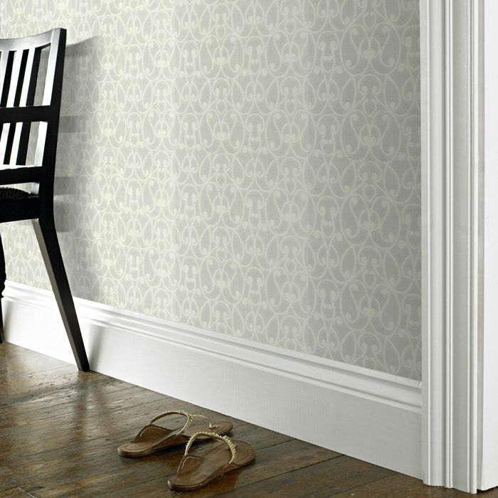 Jude white wallpaper paintable wall coverings by graham brown