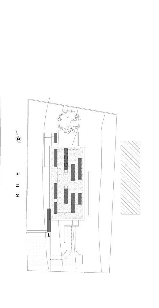 Gallery of La Maison Etirée   Barres \ Coquet - 15 Site plans