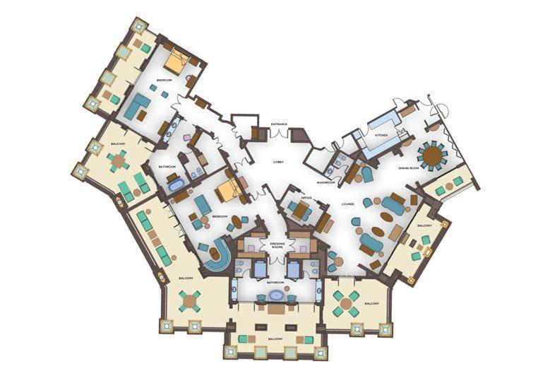Grand atlantis suite floor plan a week in the life of a for 2 bedroom terrace suite atlantis