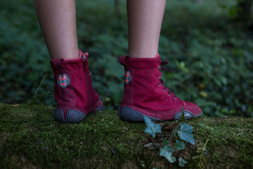 Wildling Shoes Red Riding Hood Minimalist shoes for kids