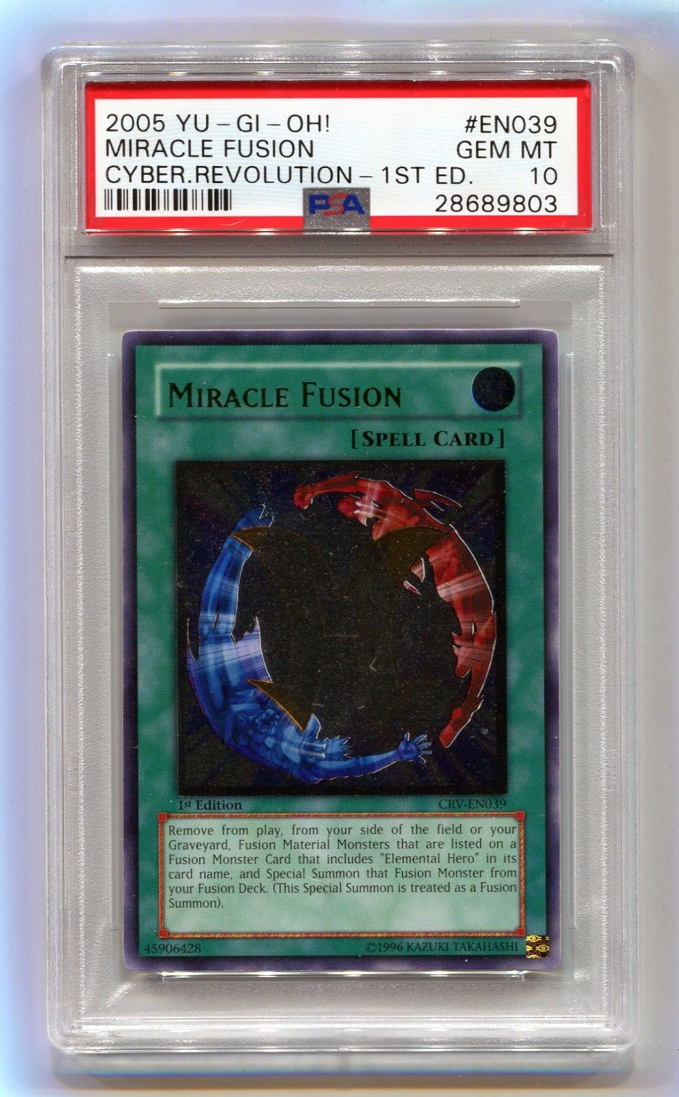 2005 YuGiOh! 1st Edition Miracle Fusion CRVEN039