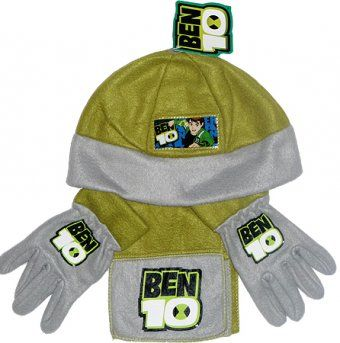 Scarf Fireman Sam 3 pieces set Hat and Gloves grey
