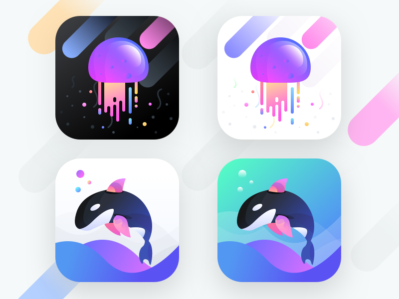 App icons for social app (Unused element part 23) (With