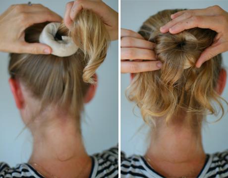 Textured Donut Bun Trick On Short Hair Short Hair Bun Bun Hairstyles Hair Donut