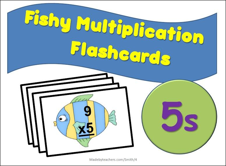 FREE Multiplication Fish Flashcards for the number 3. Laminate and ...
