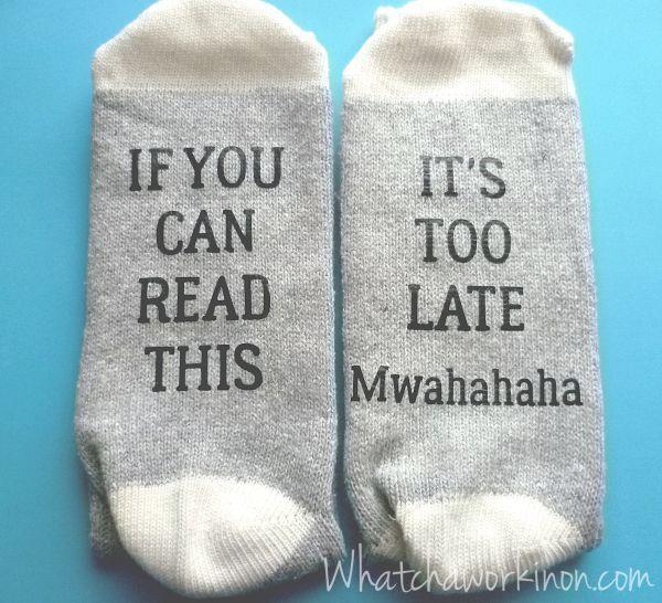 af463c53bba0 FREE Silhouette cut files for sock sayings. | Random Stuff | Socks ...