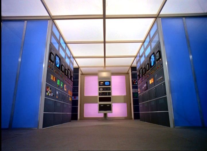 Base Alpha, Salle des ordinateurs, Space 1999, Keith Wilson, 1973-1975