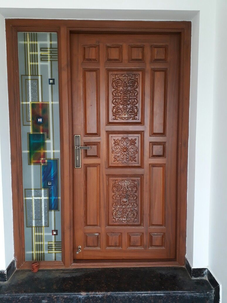 Pin by Vadivel on Door in 2019 | Wooden door design, House ...