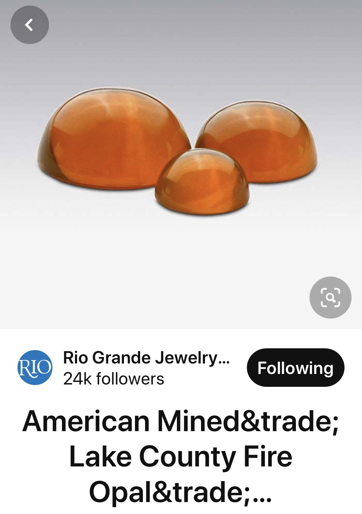 Oregon fire opal mined by Outlaw Rocks is available as cabochons at riogrande.com and rough is available at outlawrocksllc.com.