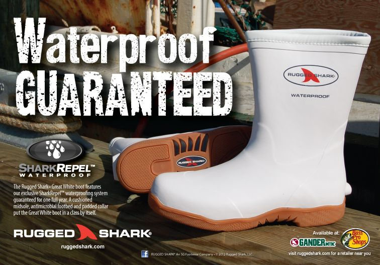 Great White Boots with SharkRepel Waterproof Technology!