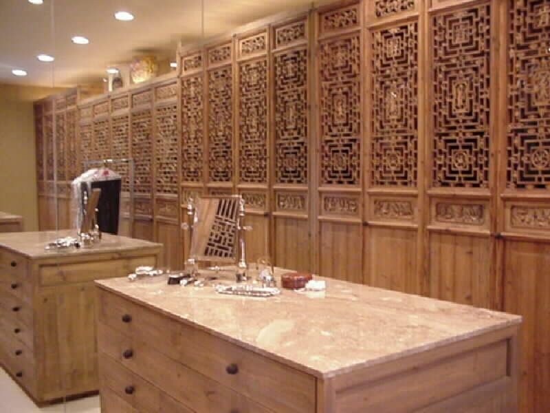 Antique Chinese Closet Doors And His Hers Dressing Tables