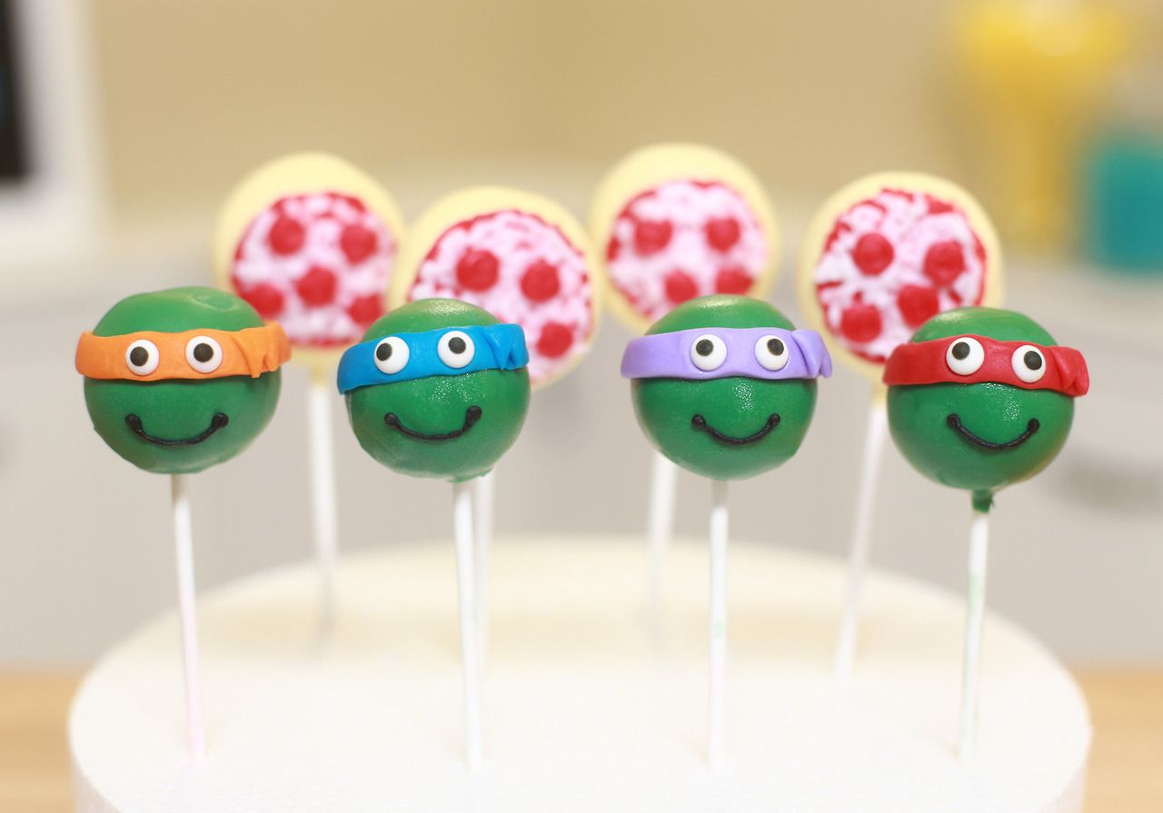 TMNT and pizza cake pops
