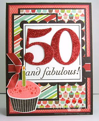 Sssc147 50 And Fabulous Cricut Cards Pinterest 50th