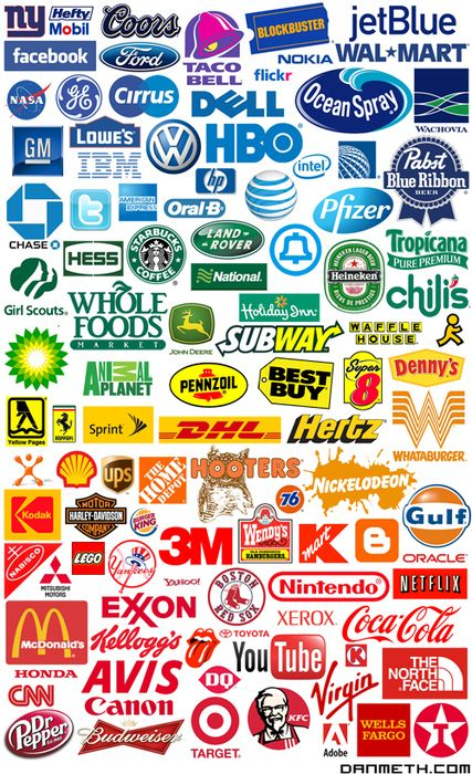cd78648ac Arcoíris de logos, do azul para o vermelho, aqui estao as cores das marcas