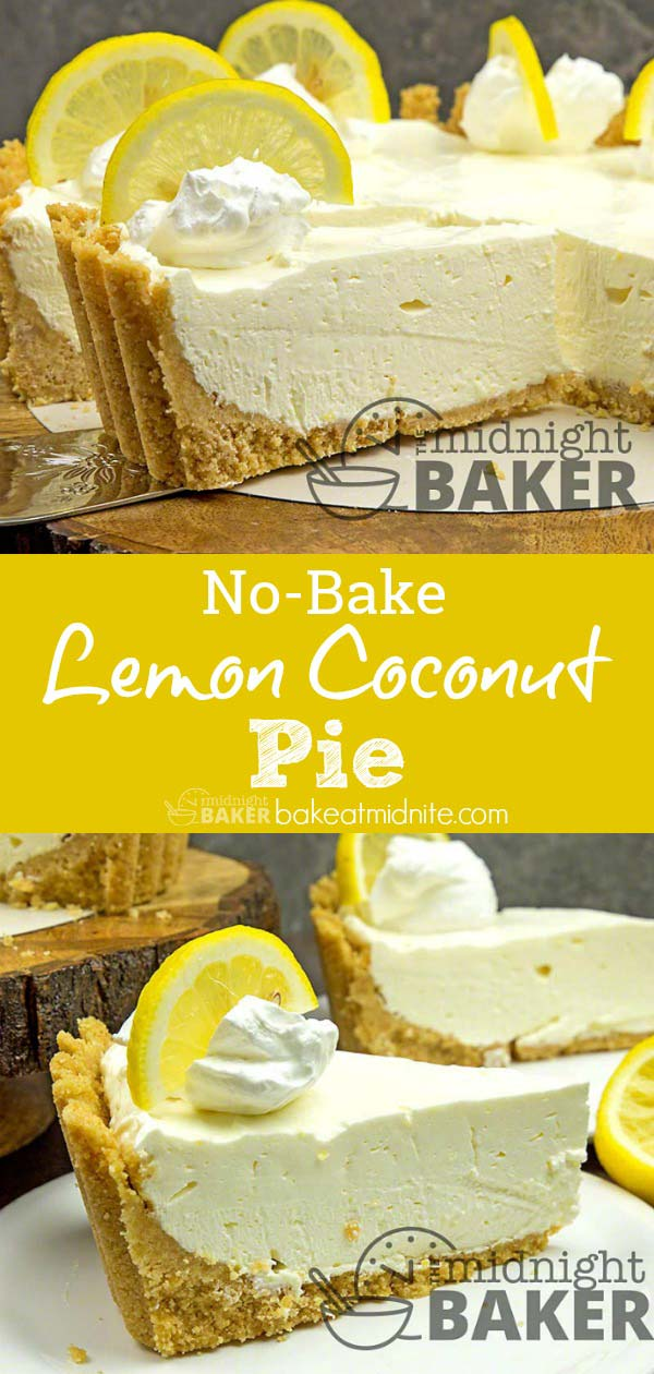 No-Bake Lemon Coconut Pie - Der Mitternachtsbäcker sy No-Bake Pie ...