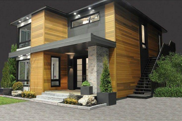 Fachada De Casa Moderna De 3 Dormitorios Sin Cochera Planos De Casas Modernas Casas De Dos Pisos Planos De Casas