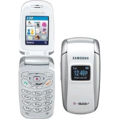 Mobile Phone: T-Mobile ~ Samsung = X495 White and Silver - 2005