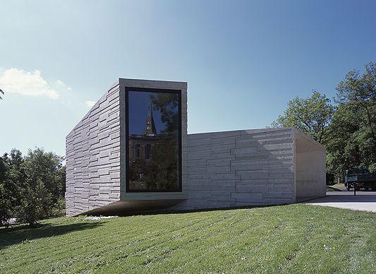 Kultur Beton Neubai Bauhaus Sichtbeton Fenster Betonbild