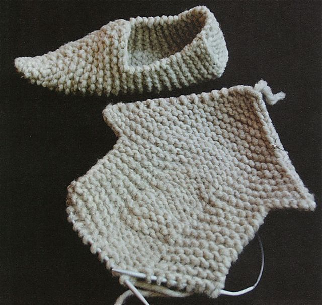 Photo of Knitted Clogs (aka Fune Feet) pattern by Elizabeth Zimmermann