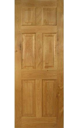Victorian 6 Panel Solid Oak Door Solid Oak Doors Oak Doors And