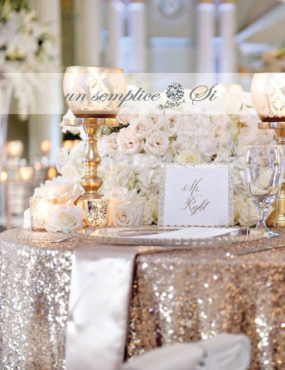Sequin Tablecloths Rose Gold Sequin Runner Sequin By