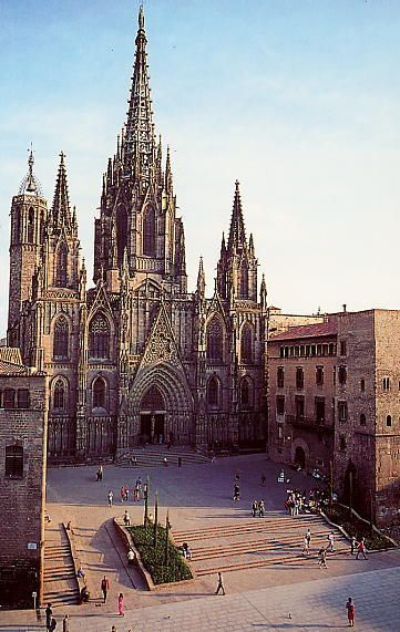 barcelona cathedral the most beautiful cathedrals of spain cathedral barcelona cathedral gothic cathedral pinterest