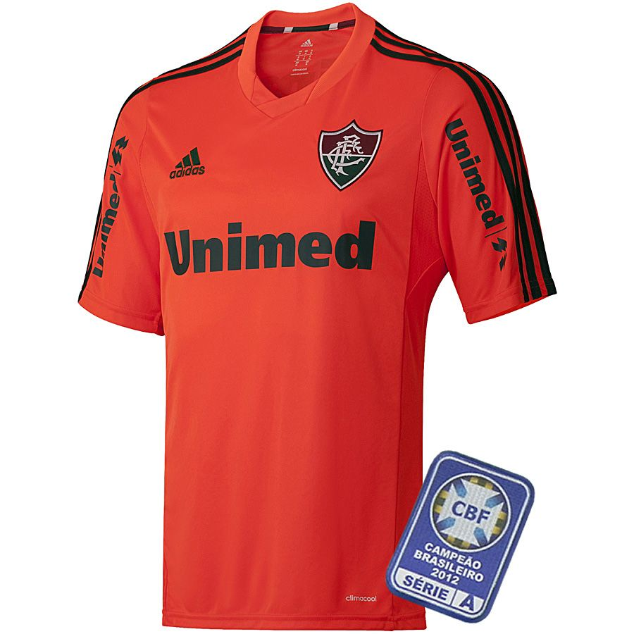 4fad8b20556ba Camisa Oficial Fluminense III 2013 - 2014 Adidas Laranja - Personalize  Patch CBF Grátis'