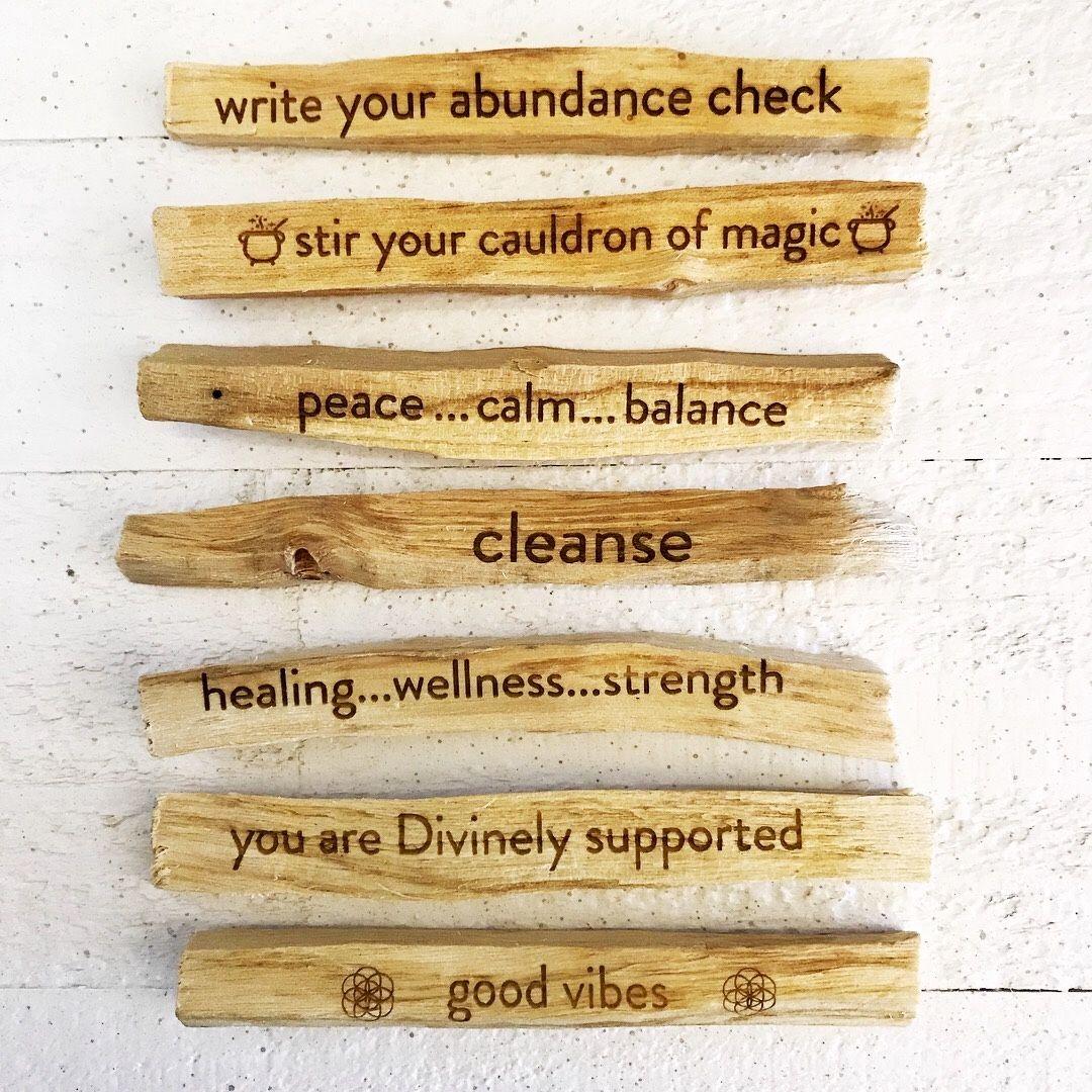 Intention palo santo stick palo santo smudging healing