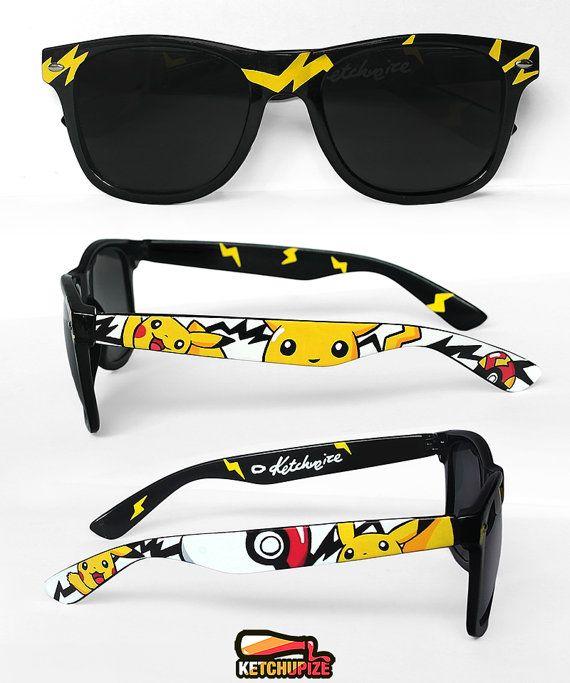 dc612ca1a9 Pokemon sunglasses Pikachu gift for him Pokemon go men women geek ...