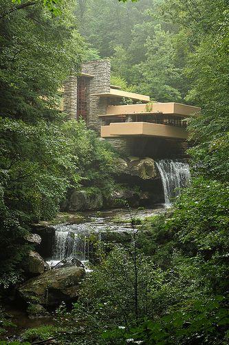Frank Lloyd Wrightu0027s Fallingwater Built Over A Waterfall Part 63