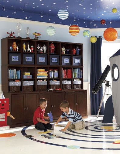 Play Space Idea 19 Pottery Barn Kids Space Themed Room Kids Playroom Space Themed Bedroom