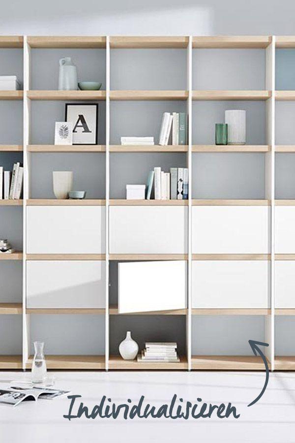Wohnwand für das Wohnzimmer \u2013 einfach individualisieren! Bookcases