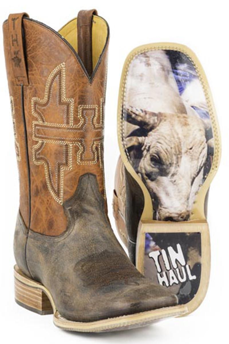 9c412328290 Tin Haul Go Balls Out Men's Cowboy Boots - HeadWest Outfitters ...