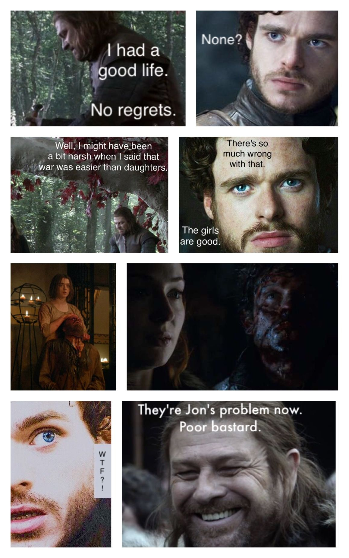 Ok Eddard And Rob Pretty Sure Jon Don T Have To Worry About His
