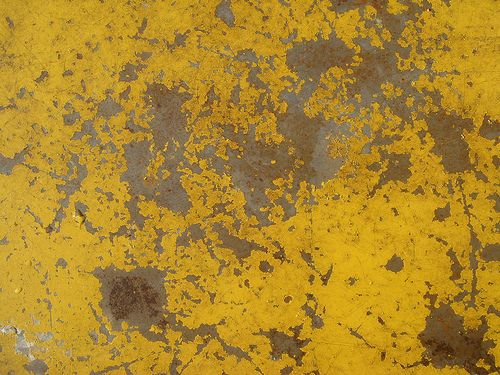 Rusting Yellow Metal Texture Metal Texture Yellow Painting Texture Painting
