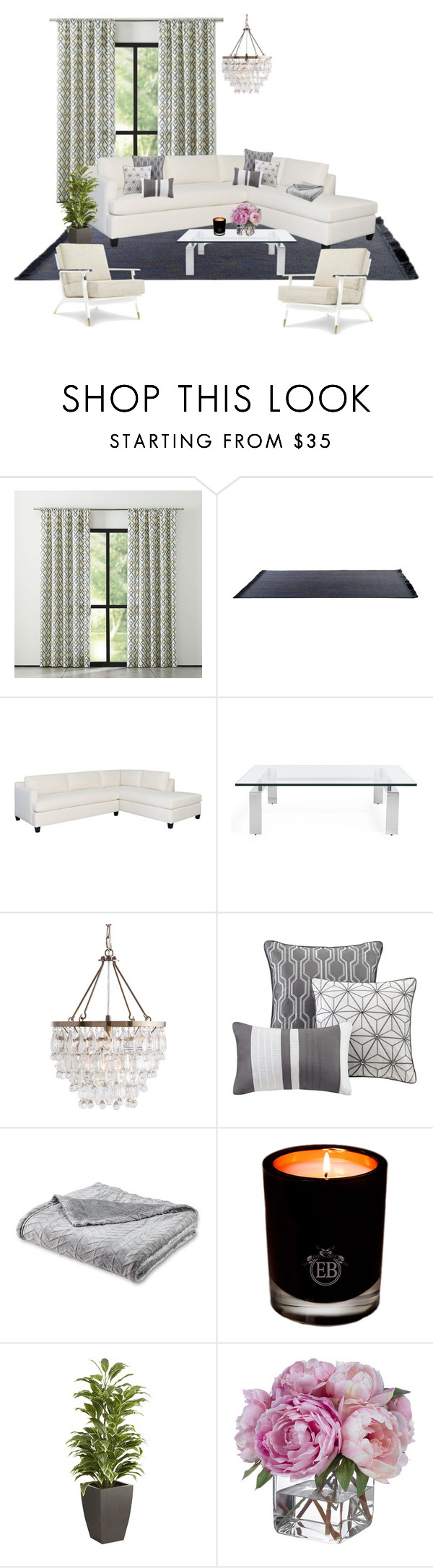 """My house pt1❤️"" by pilargabra on Polyvore featuring interior, interiors, interior design, hogar, home decor, interior decorating, Ralph Lauren Home, Madison Park, EB Florals y Pier 1 Imports"
