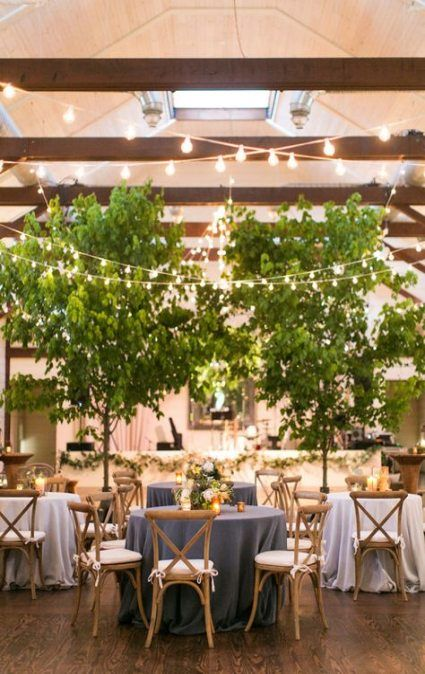50+ Super Ideas Wedding Reception Indoor Decoration Trees