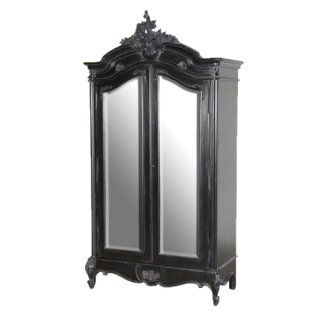 Moulin Noir 2 Drawer Mirror Armoire