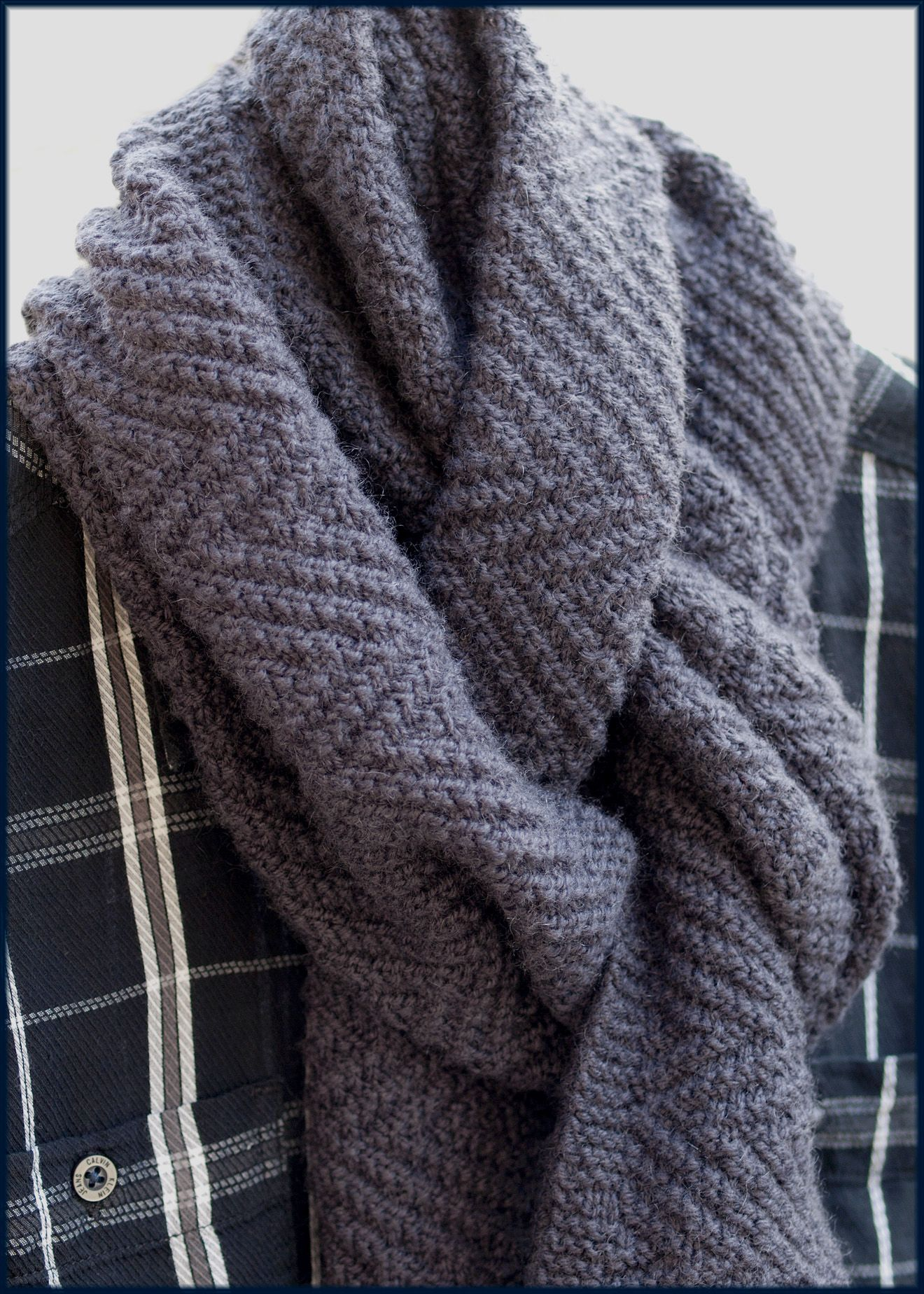 Lamberhurst Scarf Mens Knitted Scarf Mens Scarf