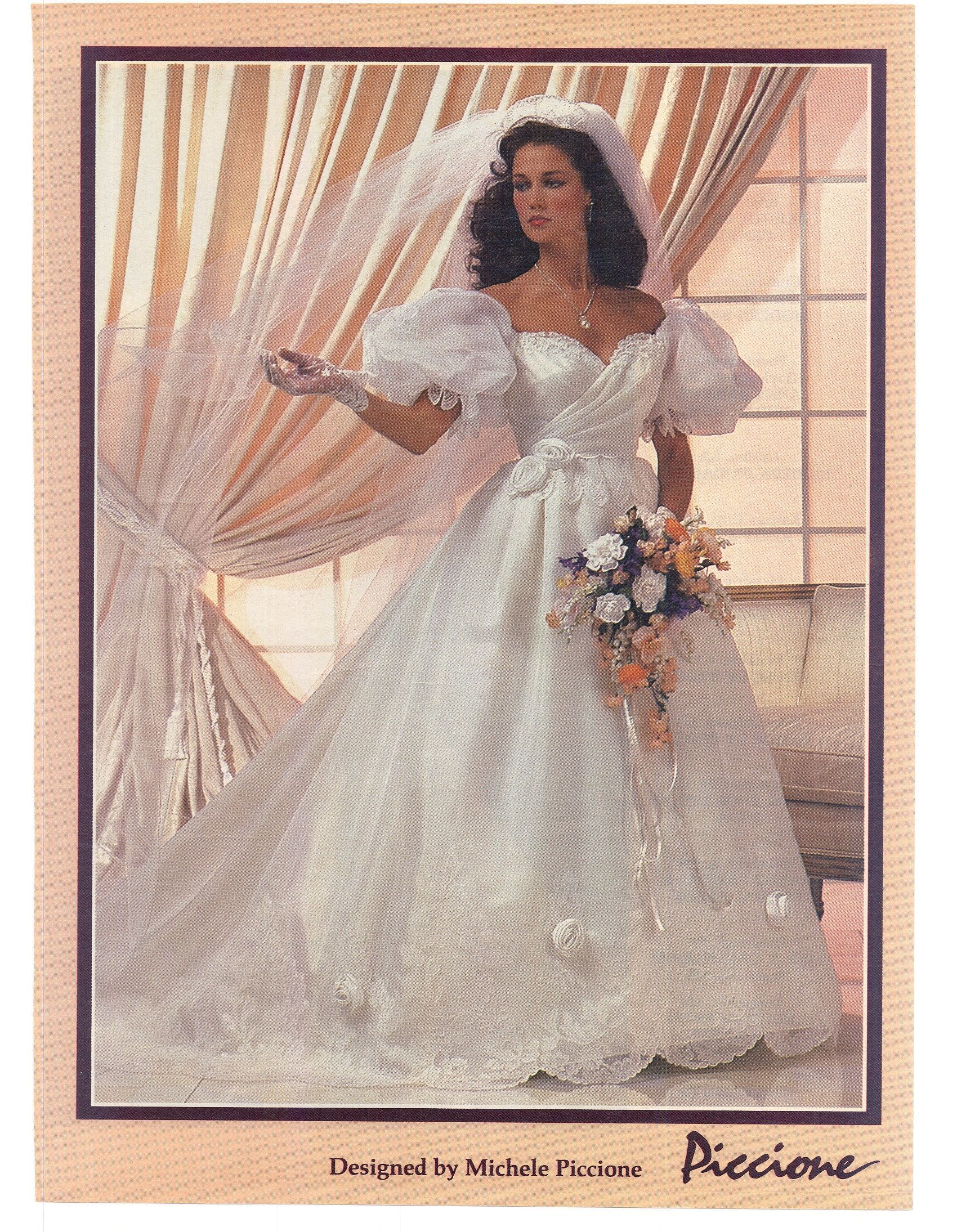 Modern Bride Feb/Mar 1984. I love this dress. It is so frilly, girly ...
