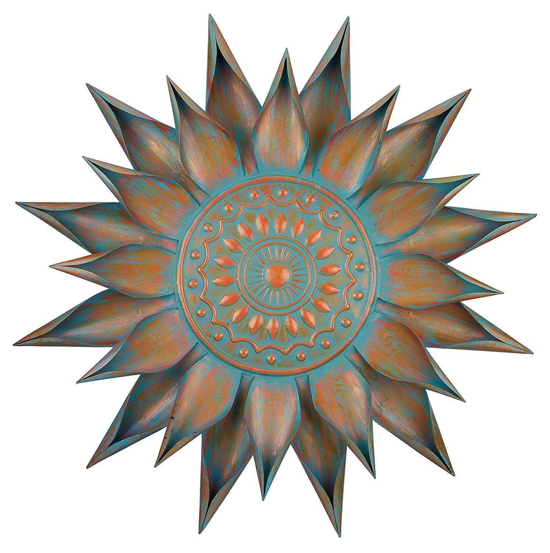 Regal art u gift patina bloom wall decor inch regal art gift